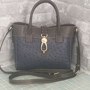 Dooney&Bourke Ostrich Embossed Leather Amelie Tote